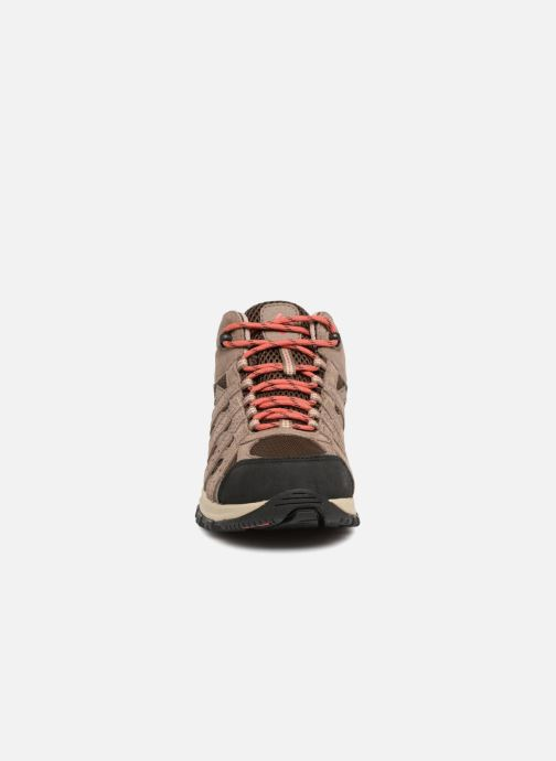 Chaussures de sport Columbia Canyon Point Mid Waterproof W Marron vue portées chaussures