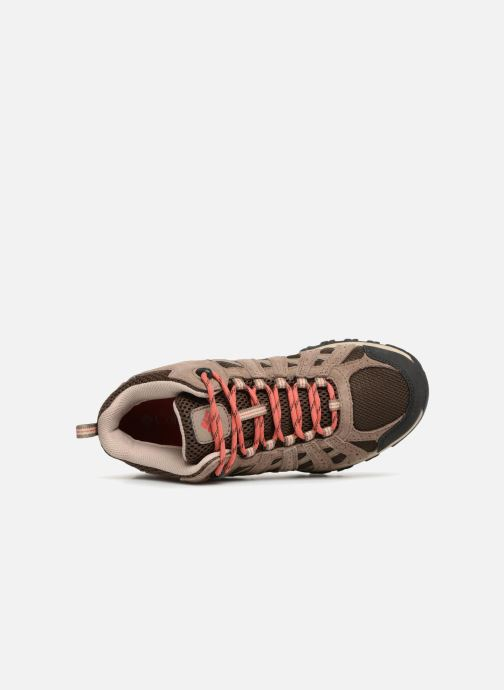 Chaussures de sport Columbia Canyon Point Mid Waterproof W Marron vue gauche