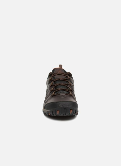 Chaussures de sport Columbia Woodburn II Waterproof Marron vue portées chaussures