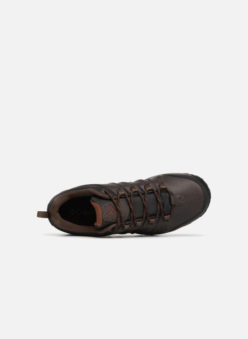 Chaussures de sport Columbia Woodburn II Waterproof Marron vue gauche