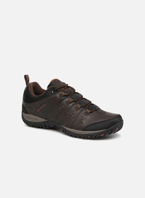 Chaussures de sport Columbia Woodburn II Waterproof Marron vue détail/paire