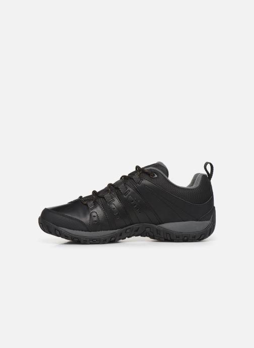 Chaussures de sport Columbia Woodburn II Waterproof Noir vue face