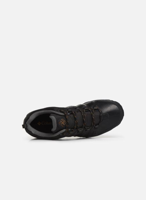 Zapatillas de deporte Columbia Woodburn II Waterproof Negro vista lateral izquierda