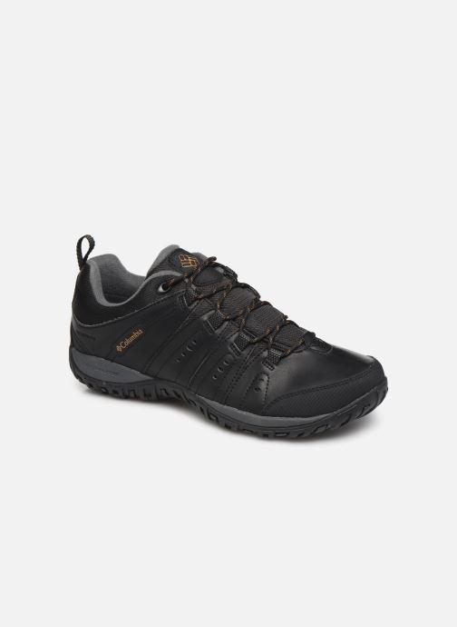 Chaussures de sport Columbia Woodburn II Waterproof Noir vue détail/paire