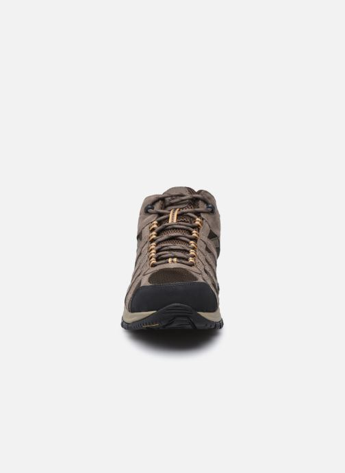 Chaussures de sport Columbia Canyon Point Mid Waterproof Marron vue portées chaussures