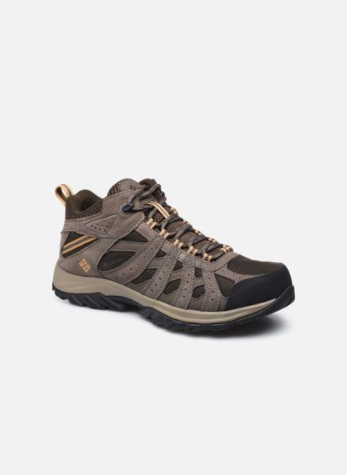 Chaussures de sport Columbia Canyon Point Mid Waterproof Marron vue détail/paire