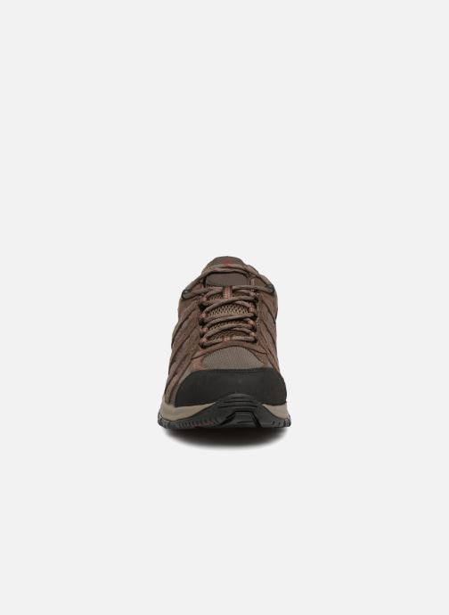 Chaussures de sport Columbia Canyon Point Waterproof Marron vue portées chaussures