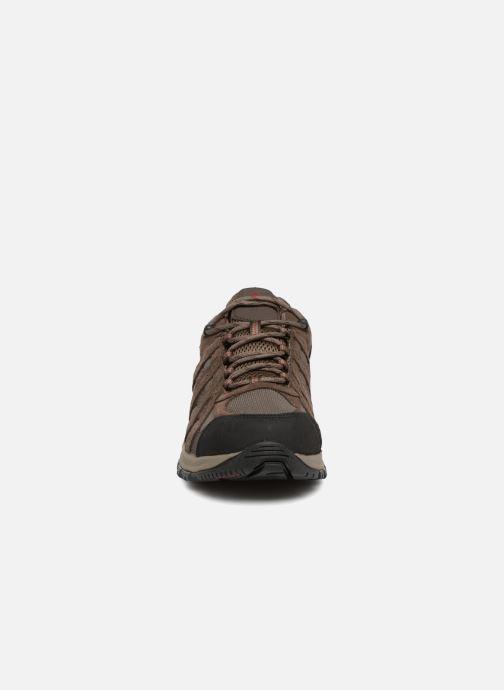 0daf5290ee9 Chaussures de sport Columbia Canyon Point Waterproof Marron vue portées  chaussures