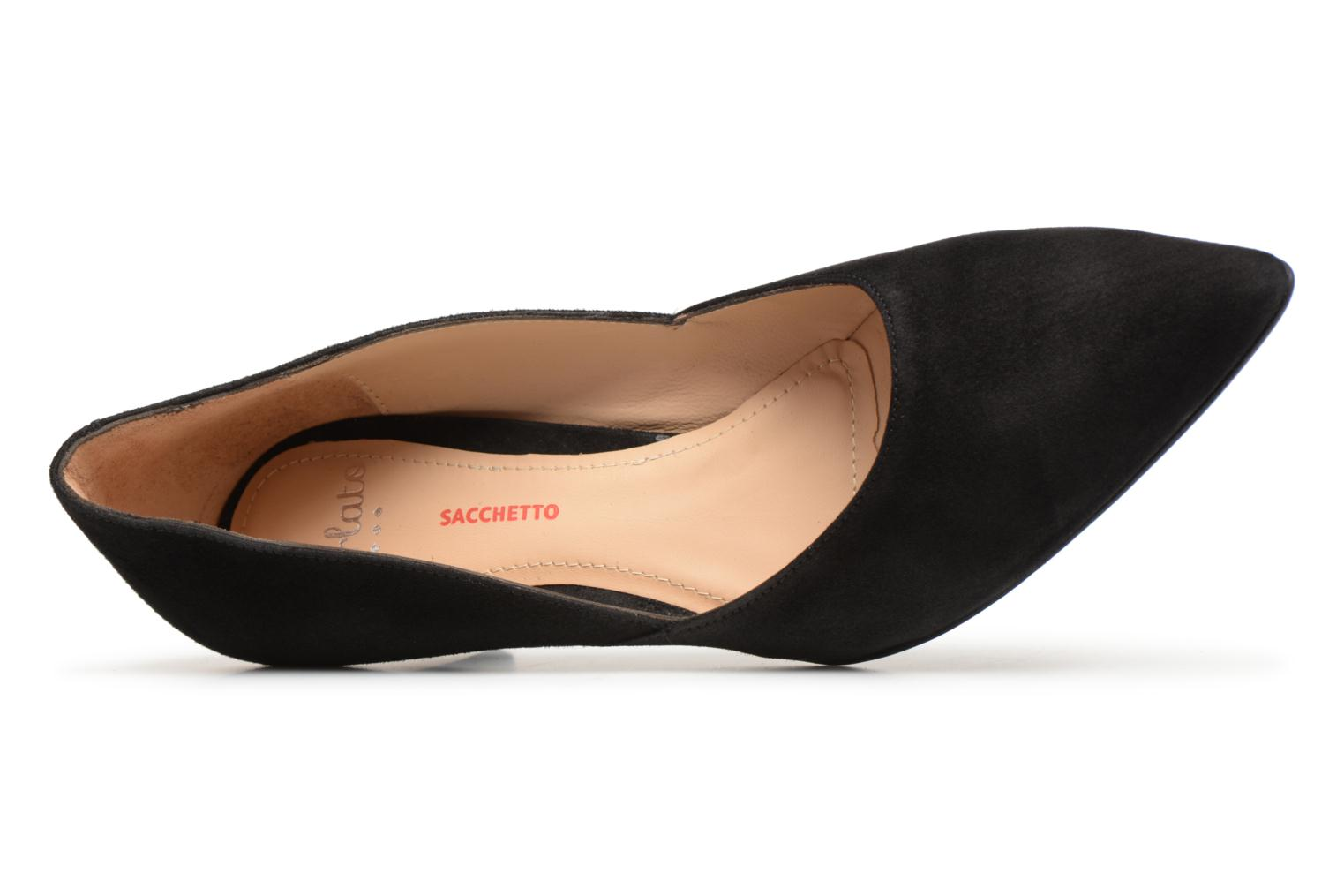 High heels Perlato 10908 Black view from the left