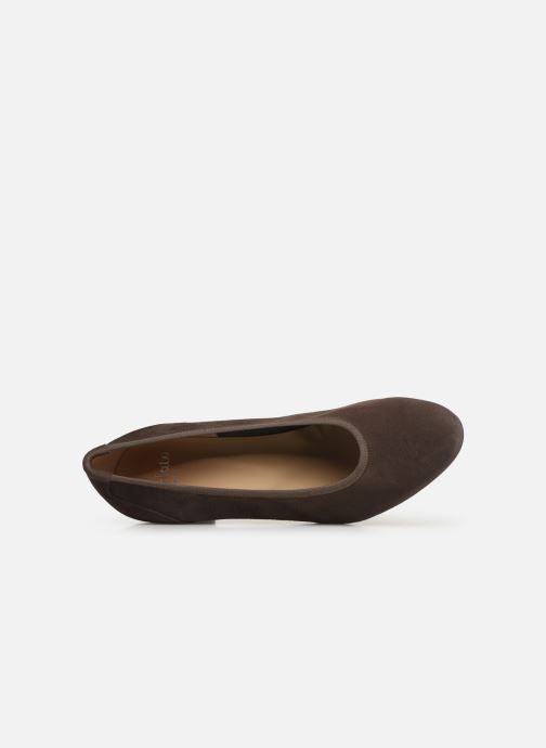 High heels Perlato 10362 Brown view from the left