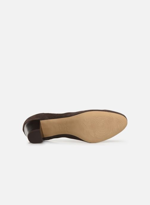 High heels Perlato 10362 Brown view from above