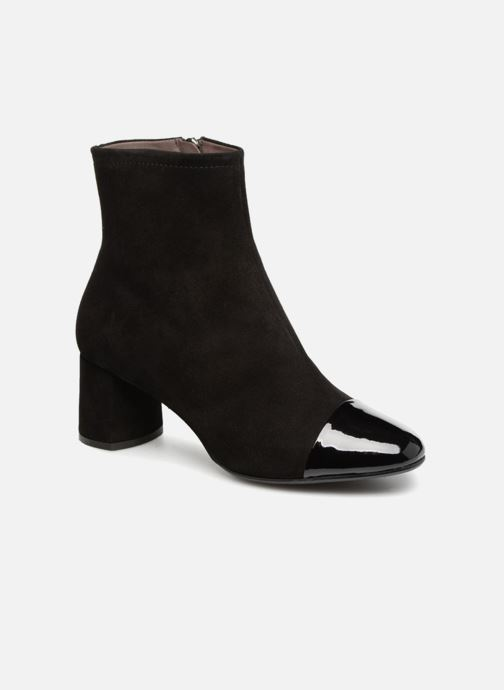 Ankle boots Perlato 10806 Black detailed view/ Pair view