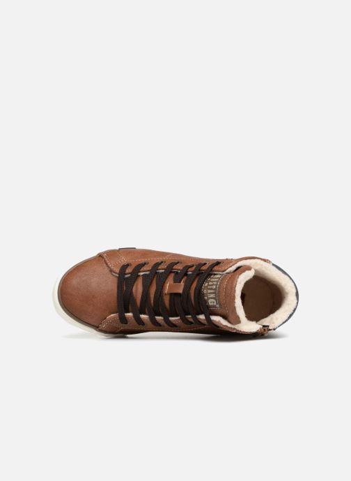 Baskets Mustang shoes Claudio Fourré Marron vue gauche