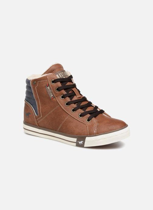 Baskets Mustang shoes Claudio Fourré Marron vue détail/paire