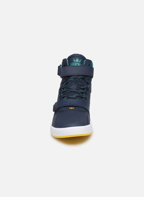 Baskets Supra Breaker Bleu vue portées chaussures
