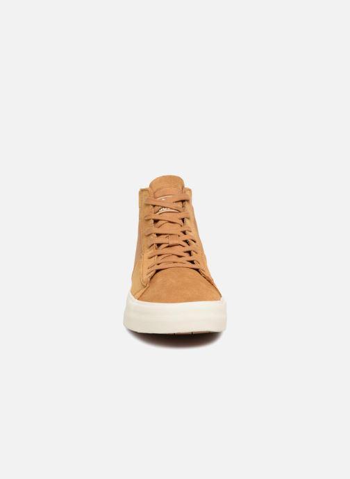 Sneaker Supra Stacks Mid braun schuhe getragen