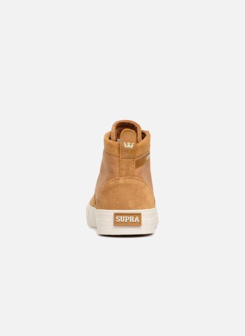 Sneaker Supra Stacks Mid braun ansicht von rechts