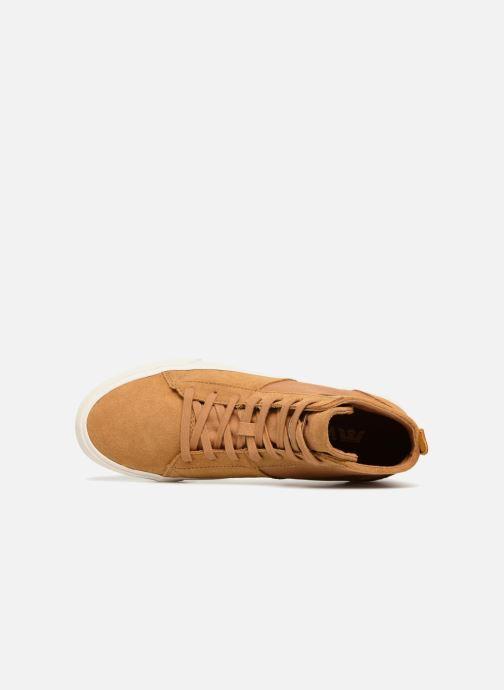 Sneaker Supra Stacks Mid braun ansicht von links