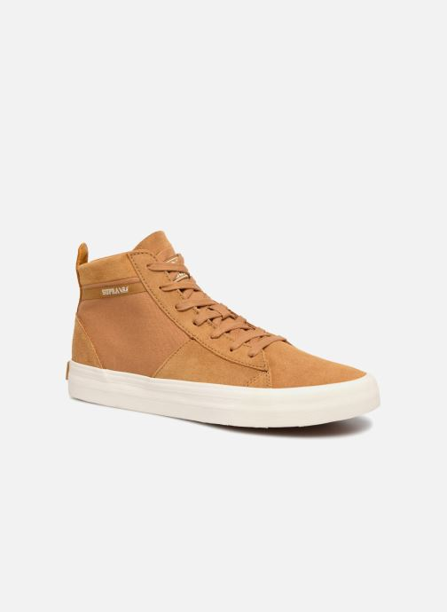 Baskets Supra Stacks Mid Marron vue détail/paire