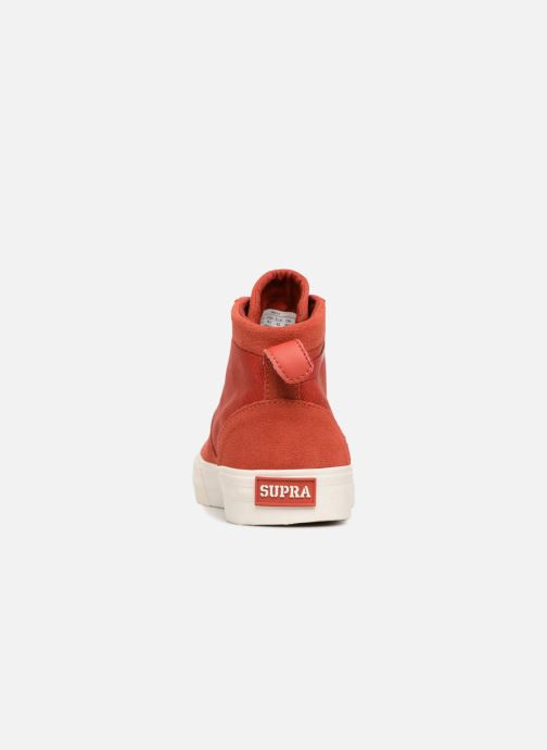 Baskets Supra Stacks Mid Rouge vue droite