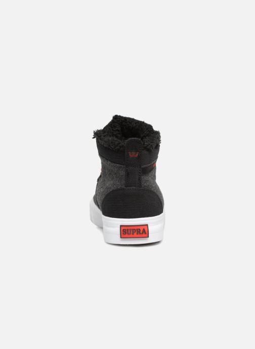Sneaker Supra Stacks Mid schwarz ansicht von rechts