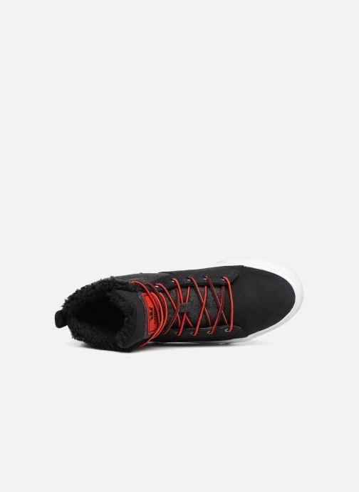 Sneaker Supra Stacks Mid schwarz ansicht von links