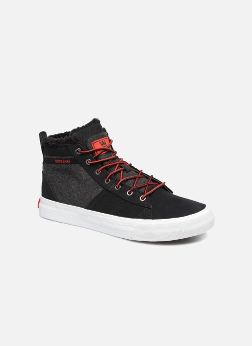 Trainers Supra Stacks Mid Black detailed view/ Pair view