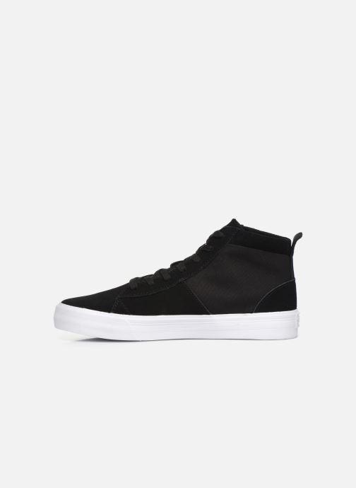 Sneaker Supra Stacks Mid schwarz ansicht von vorne
