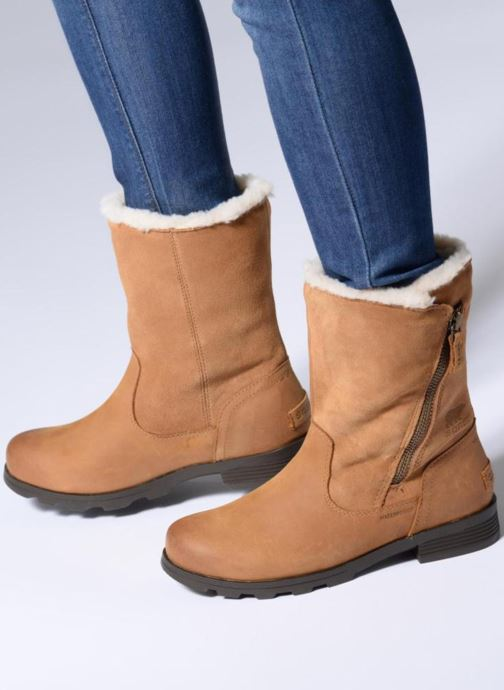 Ankle boots Sorel Emelie Foldover Brown view from underneath / model view
