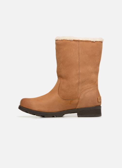 Ankle boots Sorel Emelie Foldover Brown front view