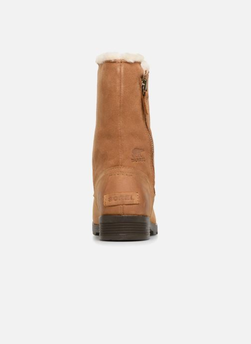 Ankle boots Sorel Emelie Foldover Brown view from the right