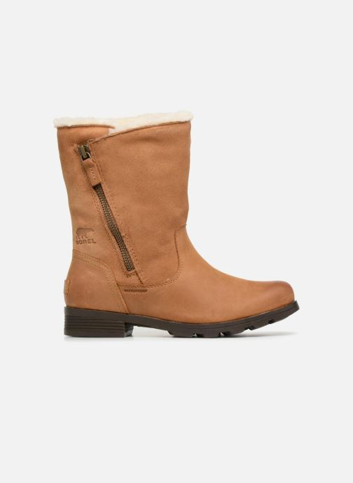 Ankle boots Sorel Emelie Foldover Brown back view
