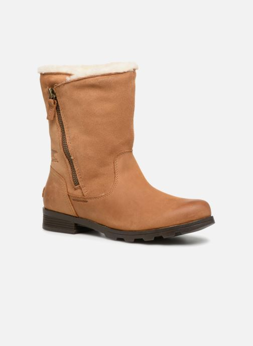 Ankle boots Sorel Emelie Foldover Brown detailed view/ Pair view
