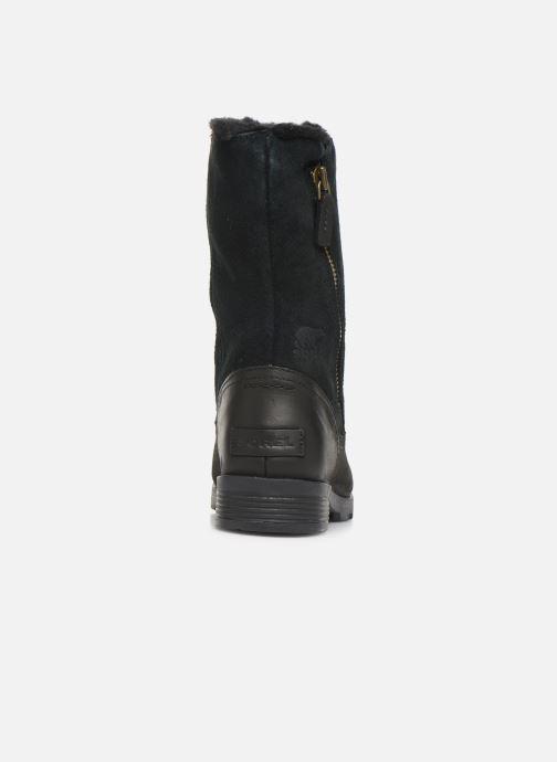 Bottines et boots Sorel Emelie Foldover Noir vue droite