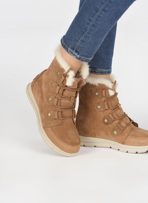 Bottines et boots Sorel Sorel Explorer Joan Marron vue bas / vue portée sac