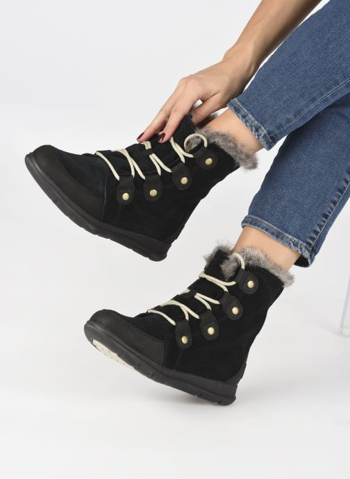 Ankle boots Sorel Sorel Explorer Joan Black view from underneath / model view