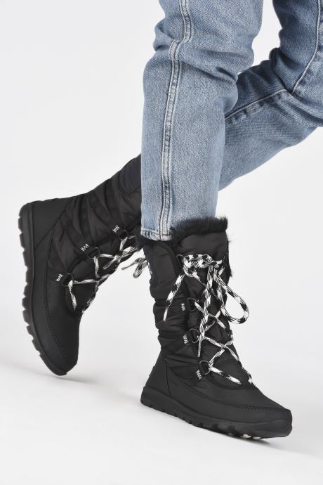 Chaussures de sport Sorel Whitney Tall Lace II Noir vue bas / vue portée sac