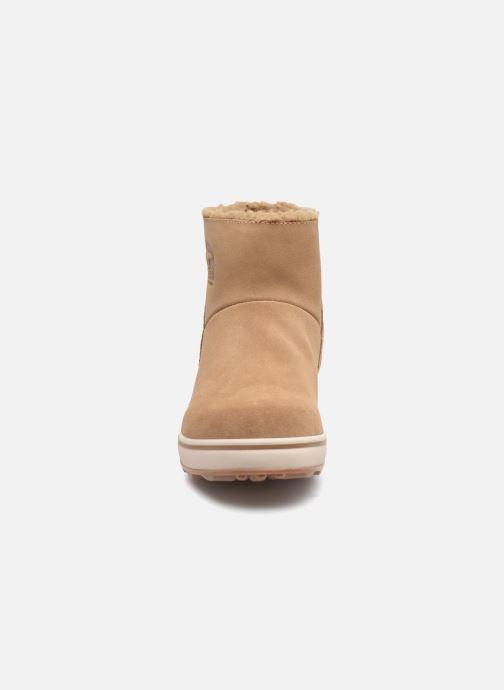 Boots en enkellaarsjes Sorel Glacy Short Bruin model