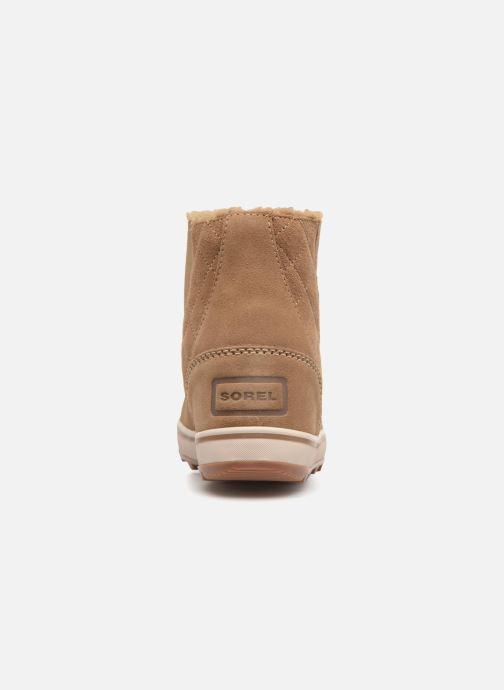 Bottines et boots Sorel Glacy Short Marron vue droite