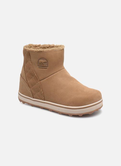 Boots en enkellaarsjes Sorel Glacy Short Bruin detail