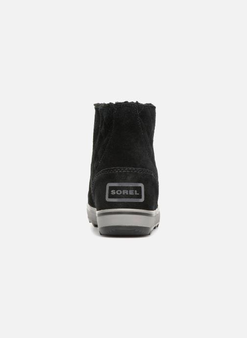 Bottines et boots Sorel Glacy Short Noir vue droite
