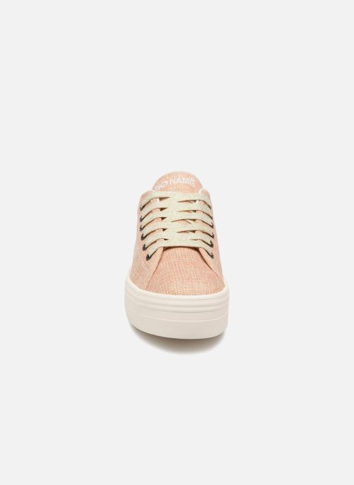 Baskets No Name PLATO SNEAKER FORTUNE Rose vue portées chaussures