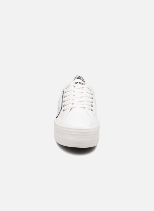 Sneakers No Name PLATO SNEAKER TWILL/PATCH Wit model