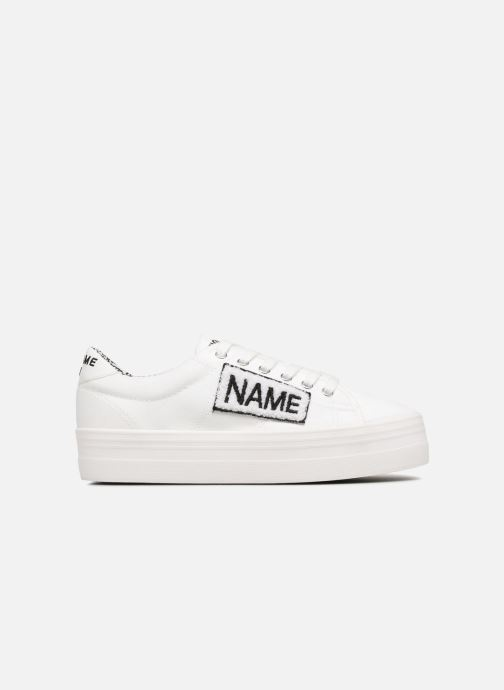 Sneakers No Name PLATO SNEAKER TWILL/PATCH Wit achterkant