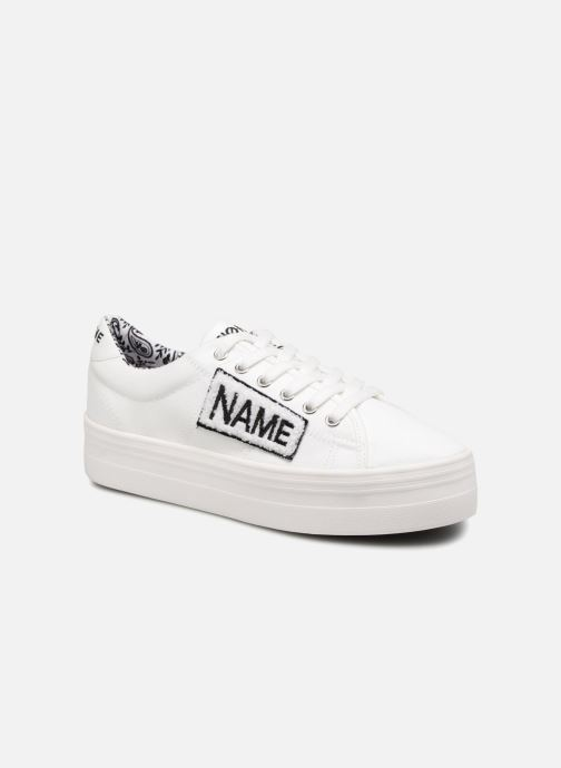 Sneakers No Name PLATO SNEAKER TWILL/PATCH Wit detail