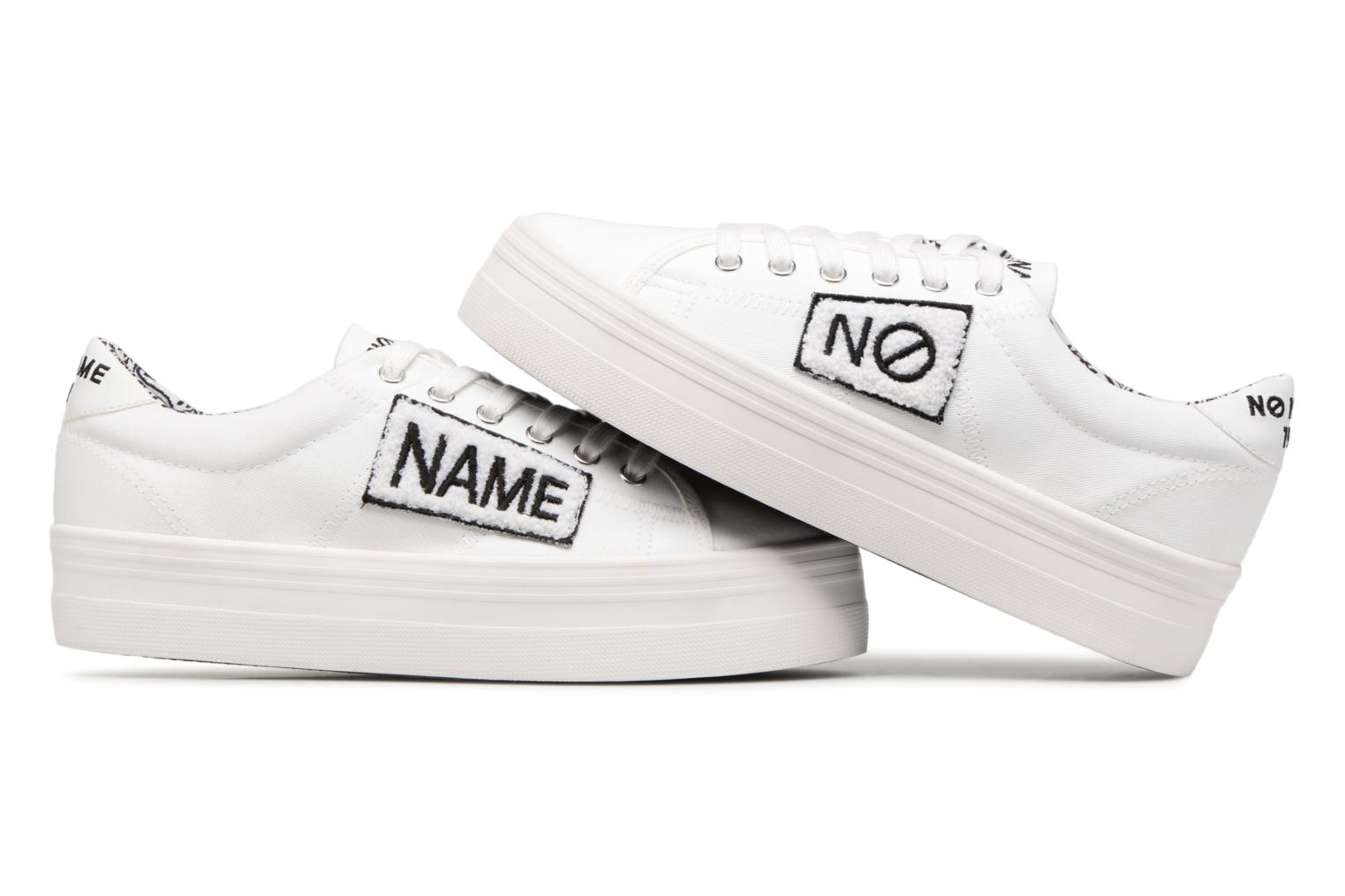 Sneakers No Name PLATO SNEAKER TWILL/PATCH Wit 3/4'