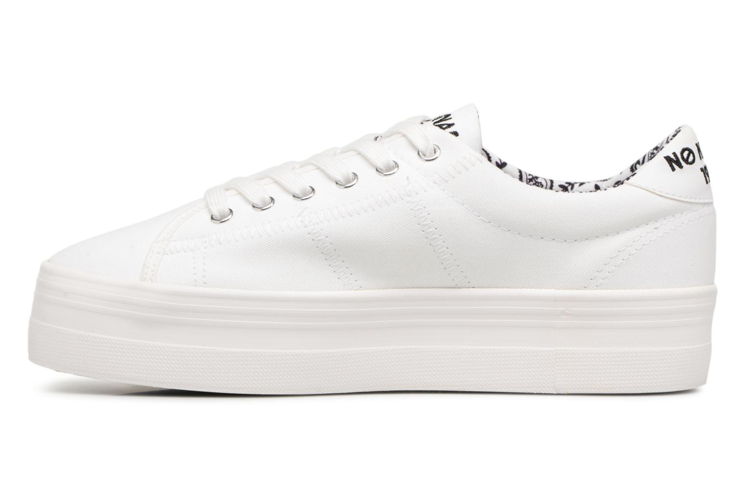 Sneakers No Name PLATO SNEAKER TWILL/PATCH Wit voorkant