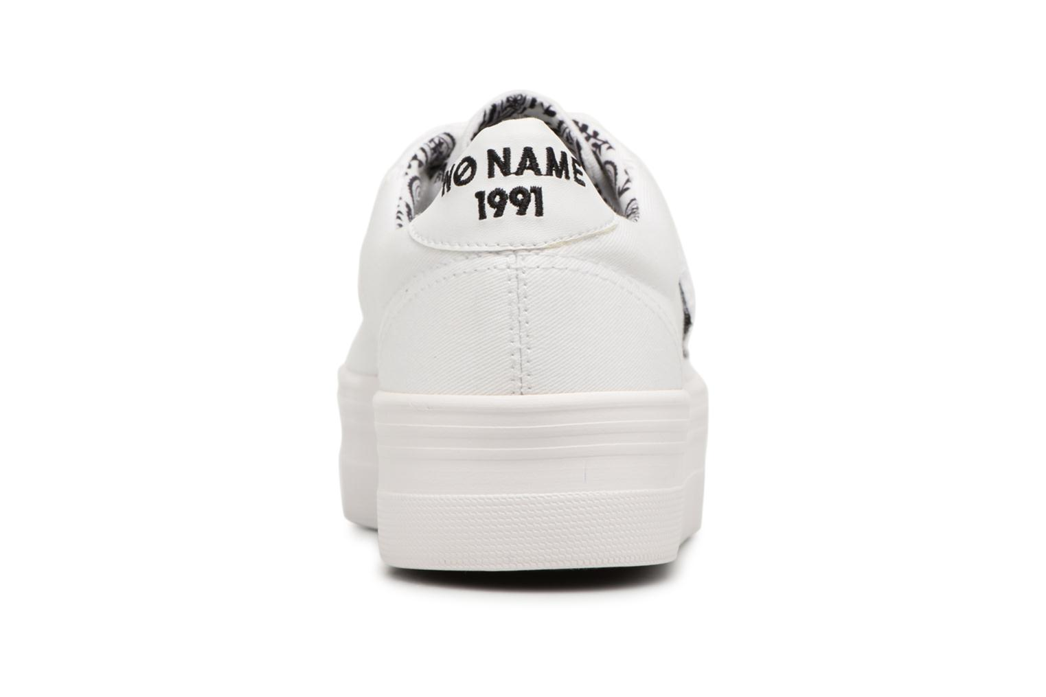 Sneakers No Name PLATO SNEAKER TWILL/PATCH Wit rechts