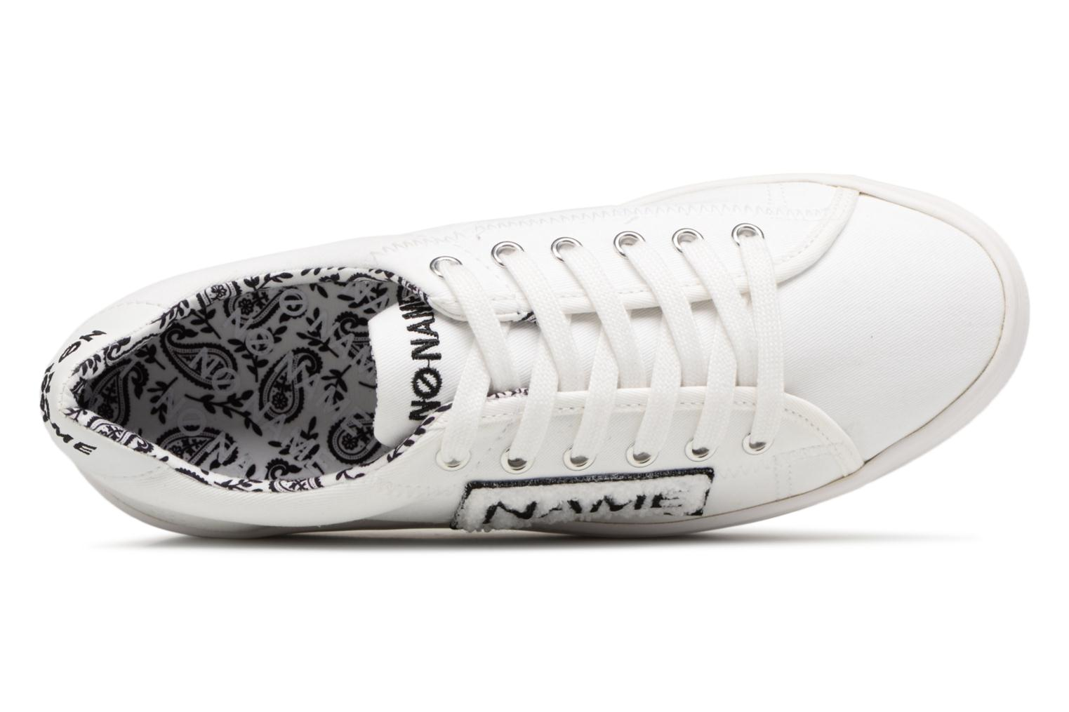 Sneakers No Name PLATO SNEAKER TWILL/PATCH Wit links