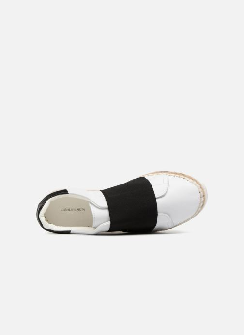 Sneakers Canal St Martin LANCRY ELASTIQUE Bianco immagine sinistra